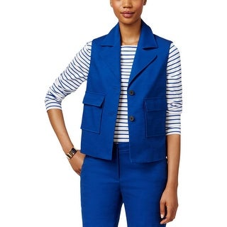 Anne Klein Womens Casual Vest Crepe Solid