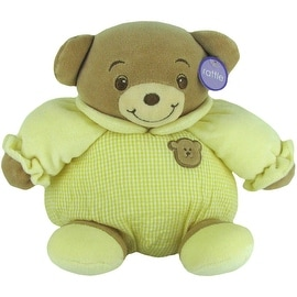 Baby Bow Rattle Plush Teddy Bear in Yellow by Russ
