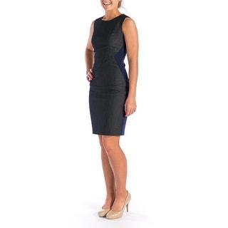 Tahari Womens Sleeveless Colorblock Wear to Work Dress - 0