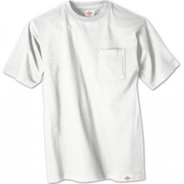 0058facc Shop Dickies 1144624WHL Men's Short Sleeve Pocket T-Shirts, Large, White, 2- Pack - Free Shipping On Orders Over $45 - Overstock - 25409463