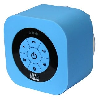 Adesso - Xtreams1l Blue Waterproof Bluetooth Speaker Adesso Xtreams1l Portable Waterproo
