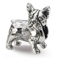 Sterling Silver Reflections Boston Terrier Bead (4mm Diameter Hole)