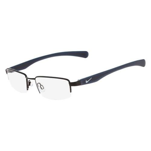 Nike Eyewear 4634-004 Eyeglasses Satin Black Dark Gray Frames - satin black dark gray