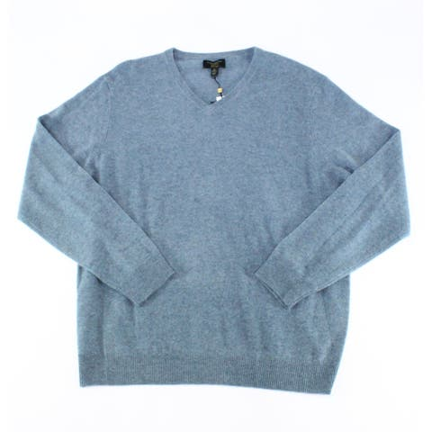 Club Room Men's Sweater Blue Size XL V-Neck Pullover Long-Sleeve