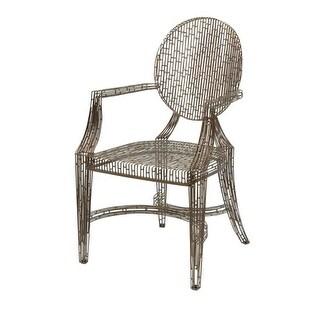 "35.5""Bronze Wilkins Handcrafted Metal Arm Chair"