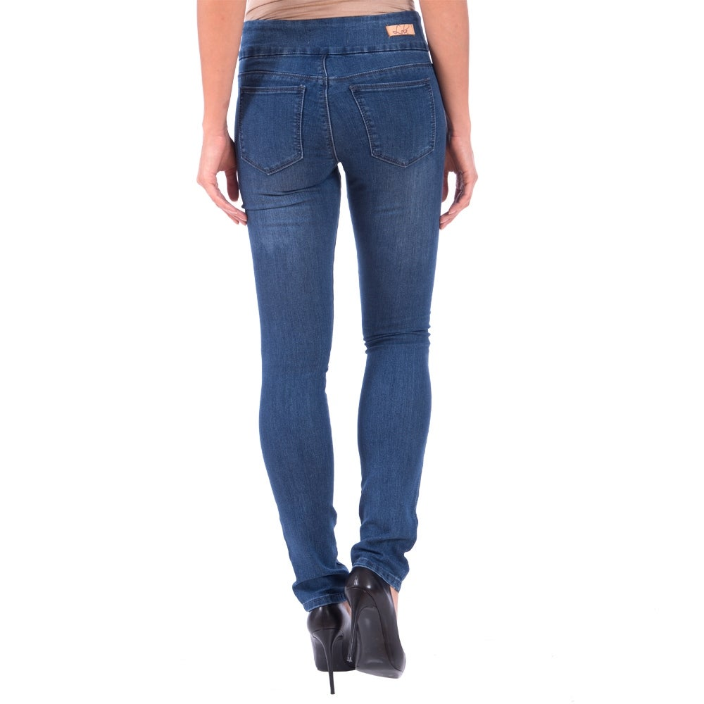 Lola Pull On Straight Jeans, Catherine-MB - Thumbnail 1