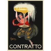 ''Contratto'' by Leonetto Cappiello Vintage Advertising Art Print (34 x 24 in.)