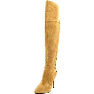Jessica Simpson Parii Women Pointed Toe Suede Tan Over the Knee Boot