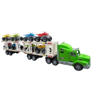 Envo Toys Mega Toy Truck Play Set With Trailer Large XL Size Green