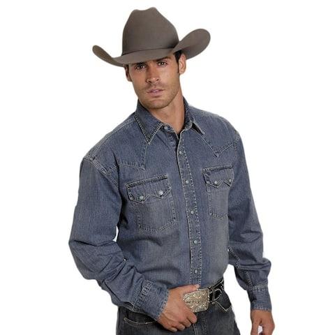 Stetson Western Shirt Mens Denim Classic L/S Blue