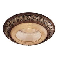 """Minka Lavery 2848 6"""" Decorative Recessed Trim with Salon Scavo Glass from the Salon Grand Collection"""