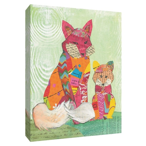 """PTM Images 9-154916 PTM Canvas Collection 10"""" x 8"""" - """"Fox Family"""" Giclee Foxes Art Print on Canvas"""