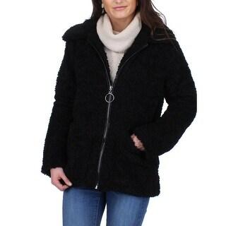 Link to Steve Madden Women's Sherpa Oversized Collared Fuzzy Teddy Jacket Coat Similar Items in Women's Outerwear