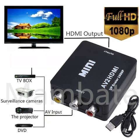 Mini Composite AV CVBS 3RCA to HDMI Video Adapter - SIZE