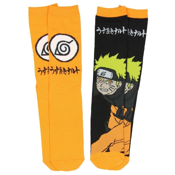 Anime Naruto Shippuden Unisex 2 Pair Crew Cut Socks Cosplay One Size