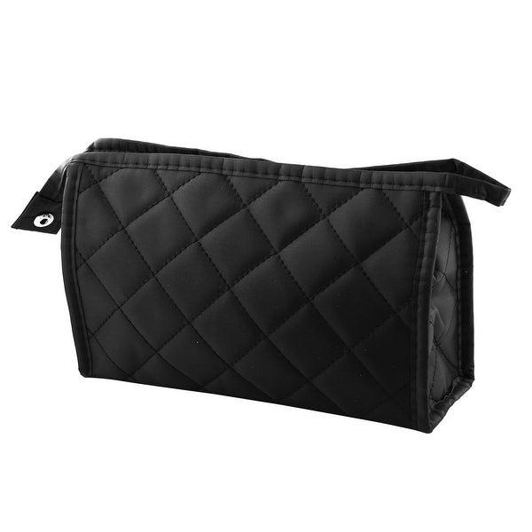 Shop Unique Bargains Grid Pattern Portable Zippered