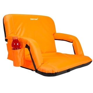 Driftsun Expanded Width Deluxe Stadium Seat / Folding Reclining Bleacher Chair with Back / Sport Chair Reclines Perfect for Blea
