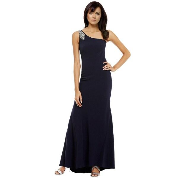 Shop Vince Camuto Embellished One Shoulder Evening Gown Dress - 10 ...