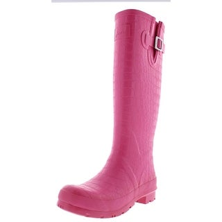 Joules Womens Crockington Rubber Knee-High Rain Boots