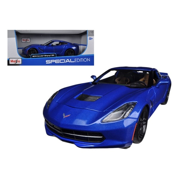 2014 Chevrolet Corvette Stingray C7 Z51 Blue 1 18 Diecast Model Car By Maisto