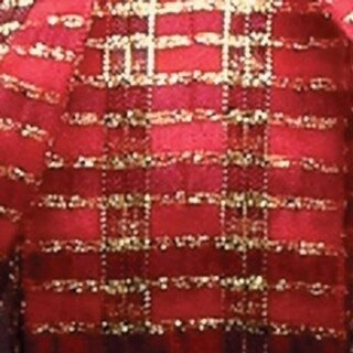 """Classic Red and Gold French Checkered Abby Wired Woven Polyester Decorative Ribbon 1.5"""" x 27 Yards"""