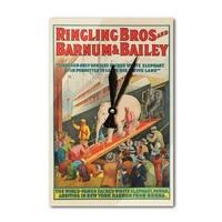 Ringling Bros Barnum & Bailey (Pawah) Vintage Ad (Acrylic Wall Clock) - acrylic wall clock