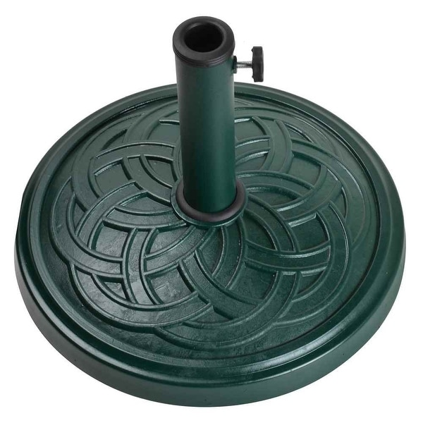 "Bond 60476A Umbrella Base, 13"" H x 18"" W, Green"