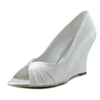 Elegant Park Anfisa Open Toe Canvas Wedge Heel