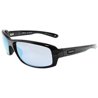 Revo Men's Polarized Camber RE-4064X-01-BL Black Rectangle Sunglasses