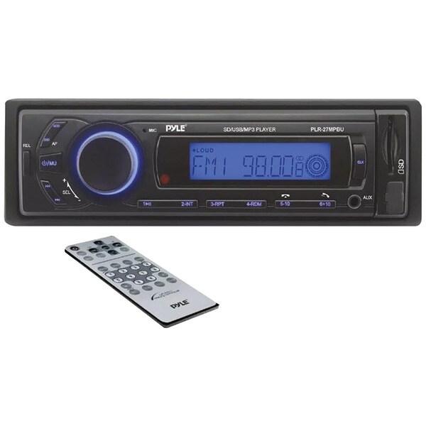 PYLE PRO PLR27MPBU Single-DIN In-Dash Mechless AM/FM Receiver with Bluetooth(R)