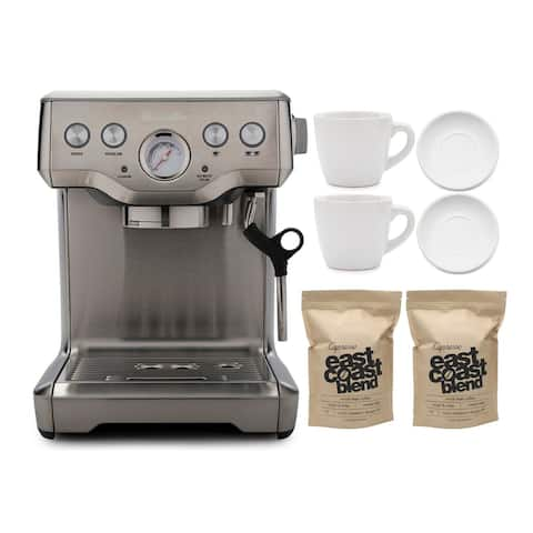 Breville The Infuser Espresso Machine with Whole Bean Coffee Bundle