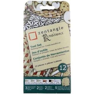 Zentangle Renaissance Tool Set 12pc-Tan Tiles - tan tiles