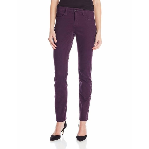 NYDJ NEW Purple Women's Size 10X32 Stretchable Seamed Solid Pants