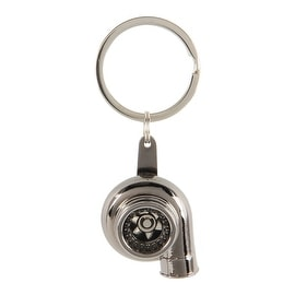 Pilot Automotive Silver/ Black Spinning Turbo Key Chain
