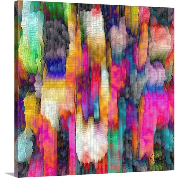 """""""Color Cascade"""" Canvas Wall Art"""