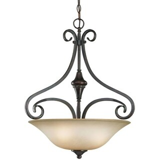 Craftmade 24923 Torrey 3 Light Bowl Shaped Indoor Pendant - 19 Inches Wide