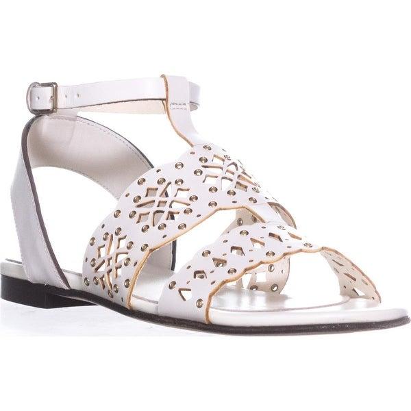 Frula Aurora T-Strap Flat Sandals, Petalo