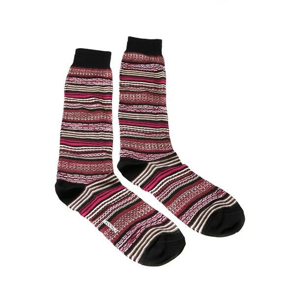 Missoni GM00CMU5236 0002 Pink/Red Knee Length Socks - L