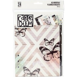 Carpe Diem Bliss Double-Sided A5 Planner Inserts-Monthly, Undated