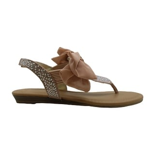Link to Material Girl Womens Swan3 Fabric Open Toe Casual Slingback Sandals Similar Items in Women's Shoes