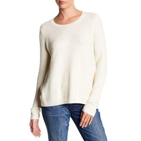 Madewell Women's Riverside Textured Sweater, Artic Ivory, Small