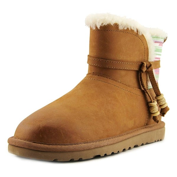 Ugg Australia Auburn Serape Round Toe Leather Winter Boot