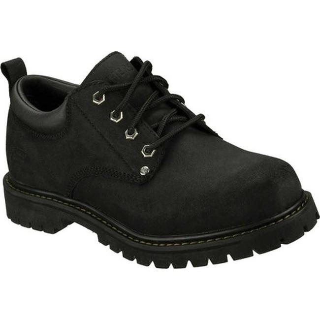 Skechers Men's Alley Cats Black Scuff Resistant Leather (BKS)