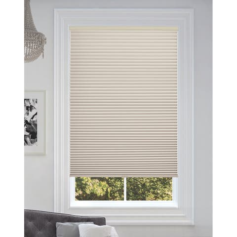 """BlindsAvenue Cordless Blackout Cellular Honeycomb Shade, 9/16"""" Single Cell, Fawn"""