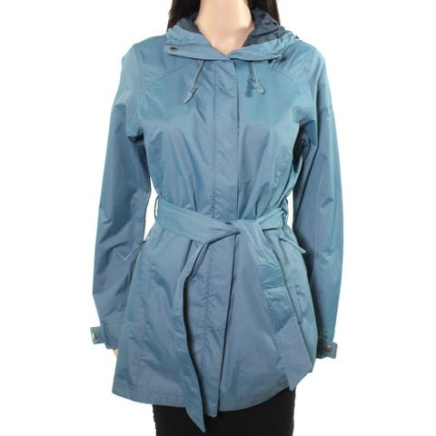 Columbia Womens Jacket Blue Size Small S Pardon My Trench Waterproof
