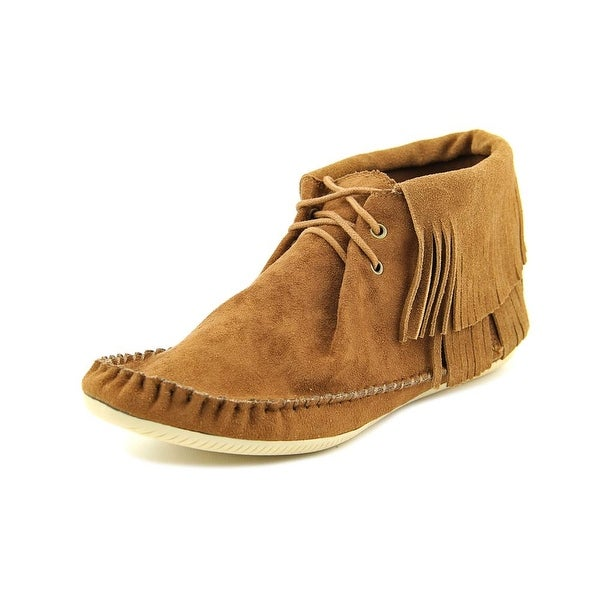 Mia Girl Winnie Women Round Toe Suede Tan Ankle Boot