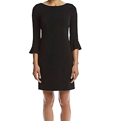 Jessica Howard Petite Bell Sleeve Sheath Dress Black - 4P