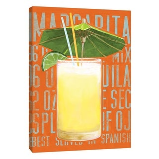 "PTM Images 9-108938  PTM Canvas Collection 10"" x 8"" - ""Margarita (Vertical)"" Giclee Liquor & Cocktails Art Print on Canvas"