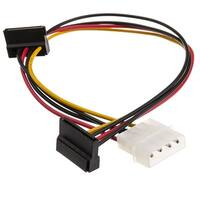 Offex Molex to Dual SATA Power Cable, 4 Pin Molex Male to Dual Serial ATA Female, 14 inch