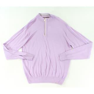 Peter Millar NEW Purple Lavender Mens Medium M 1/2 Zip Silk Sweater|https://ak1.ostkcdn.com/images/products/is/images/direct/35267b097c08a02f60e55dbb70c8cb95ef77da67/Peter-Millar-NEW-Purple-Lavender-Mens-Medium-M-1-2-Zip-Silk-Sweater.jpg?impolicy=medium